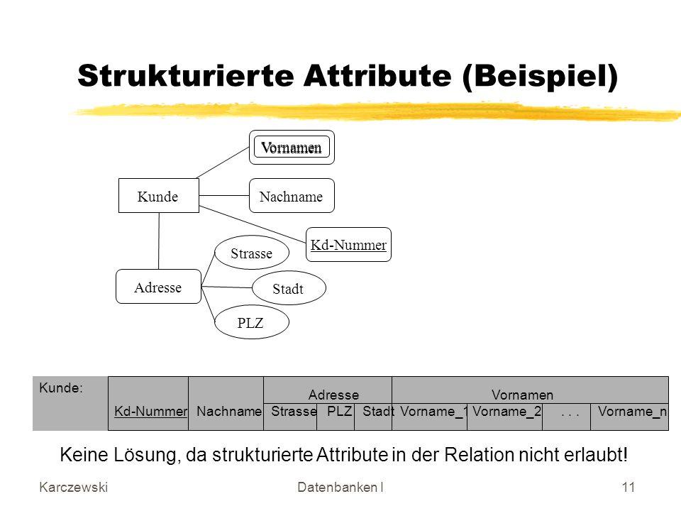 Strukturierte Attribute (Beispiel)