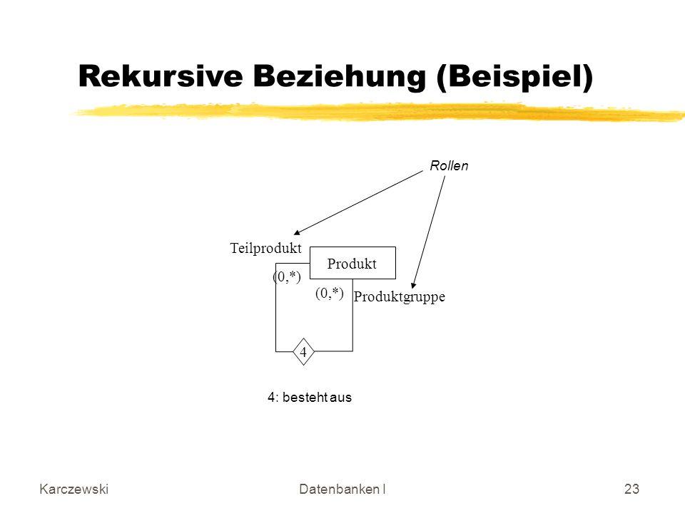 Rekursive Beziehung (Beispiel)