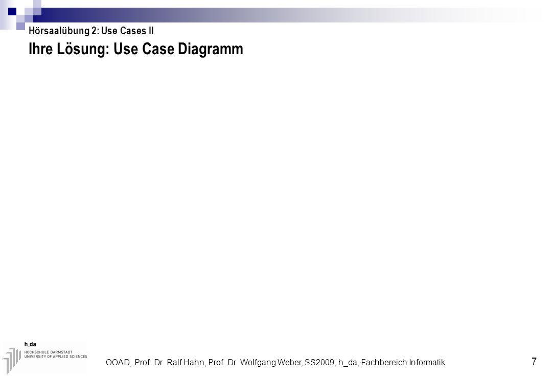 Ihre Lösung: Use Case Diagramm