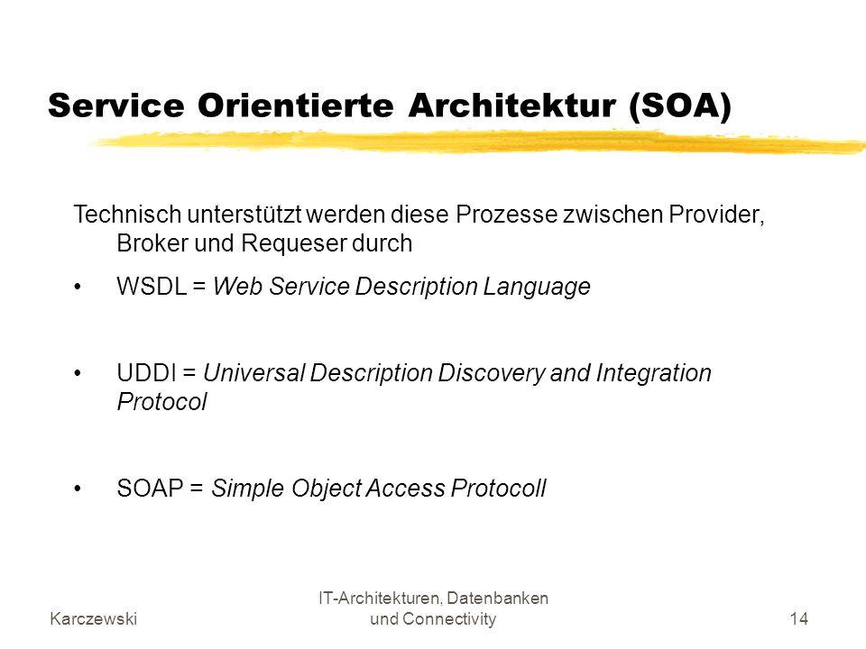 Service Orientierte Architektur (SOA)