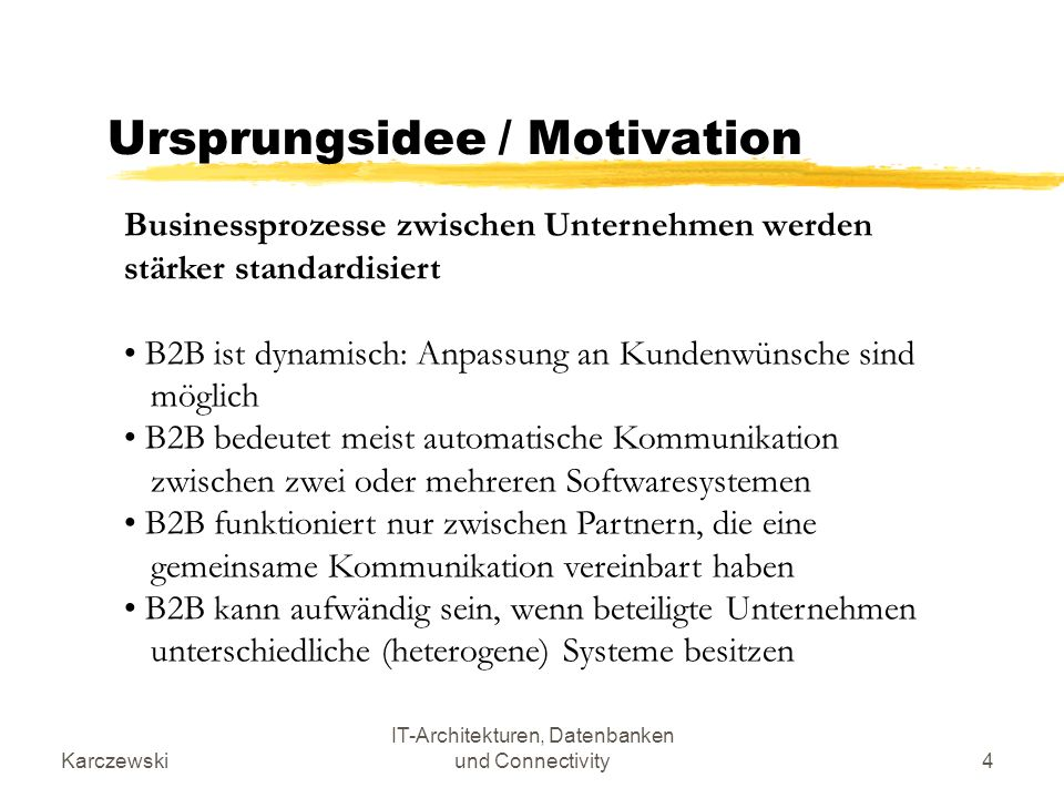 Ursprungsidee / Motivation
