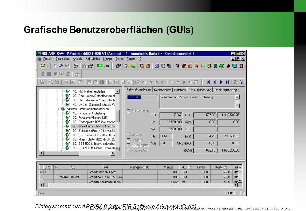 Grafische Benutzeroberflächen (GUIs)