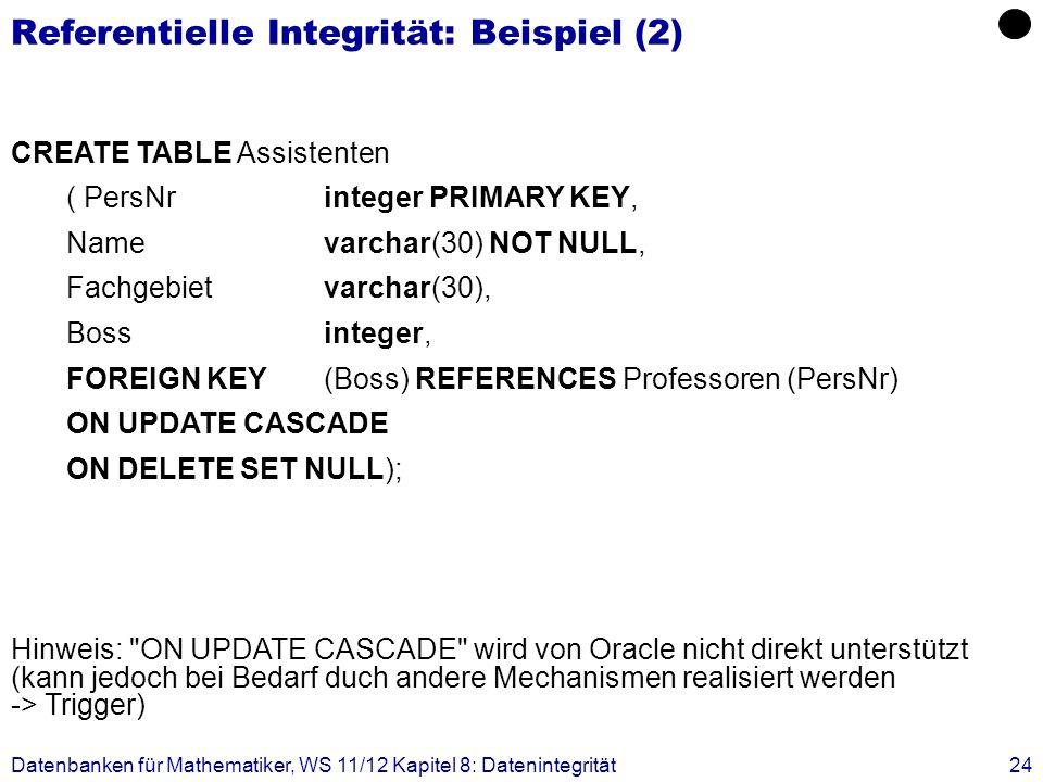 Referentielle Integrität: Beispiel (2)