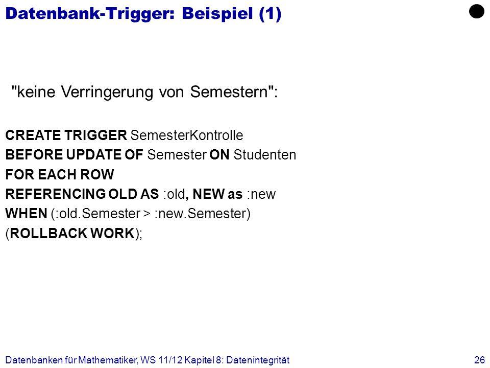 Datenbank-Trigger: Beispiel (1)