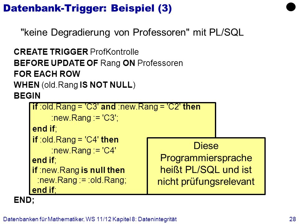 Datenbank-Trigger: Beispiel (3)