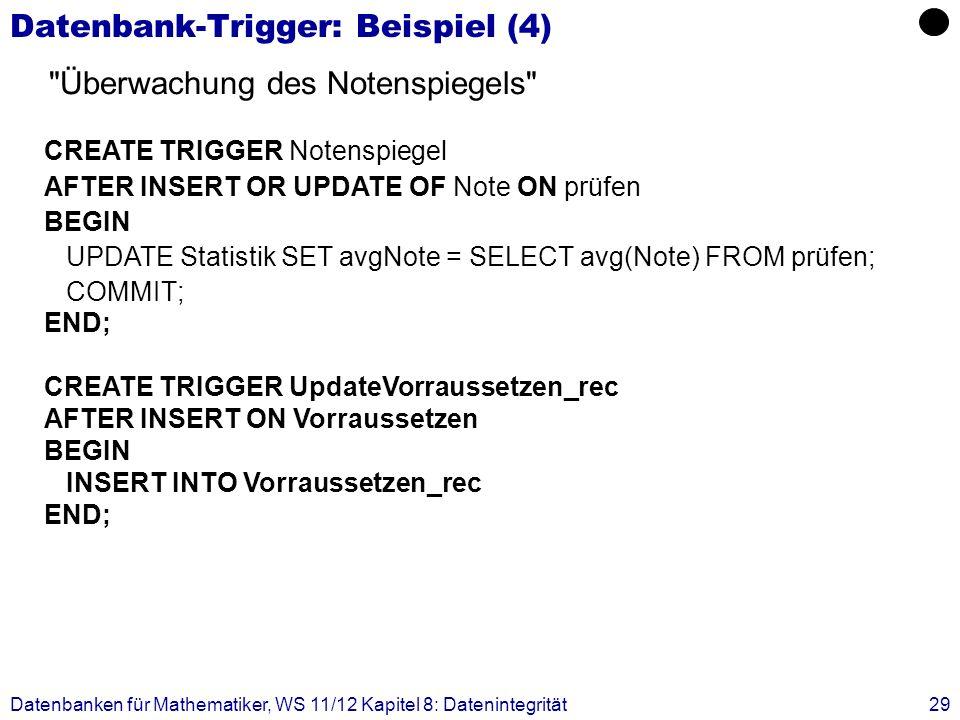 Datenbank-Trigger: Beispiel (4)