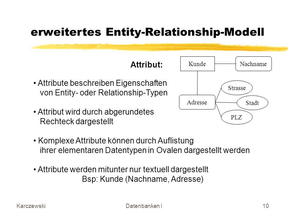 erweitertes Entity-Relationship-Modell