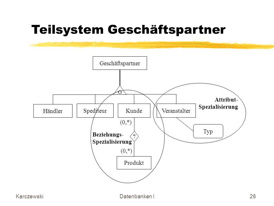 Teilsystem Geschäftspartner
