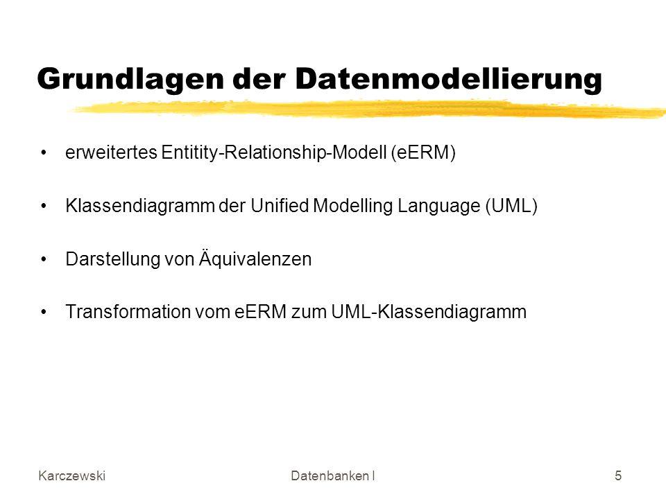 Grundlagen der Datenmodellierung