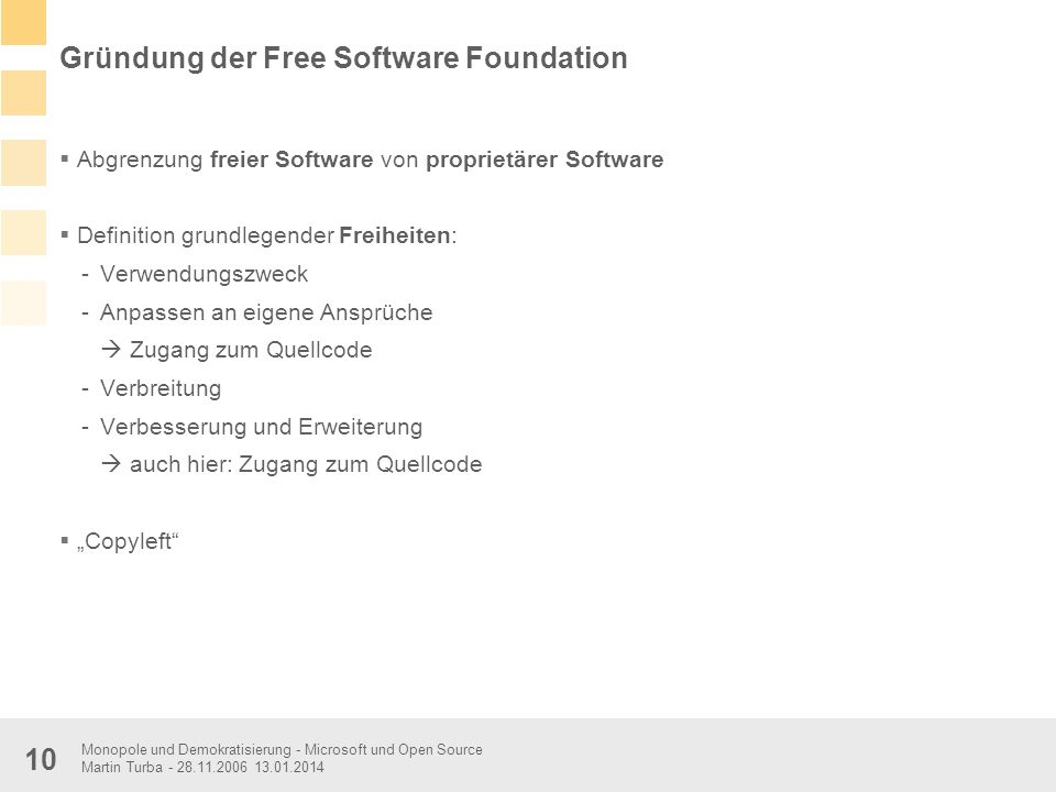 Gründung der Free Software Foundation