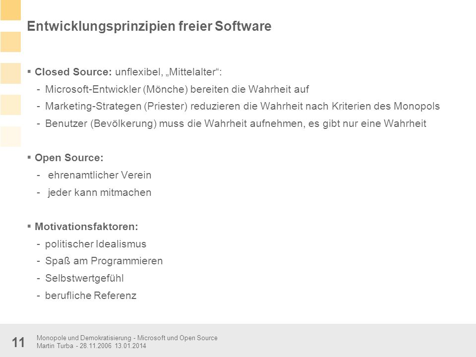 Entwicklungsprinzipien freier Software