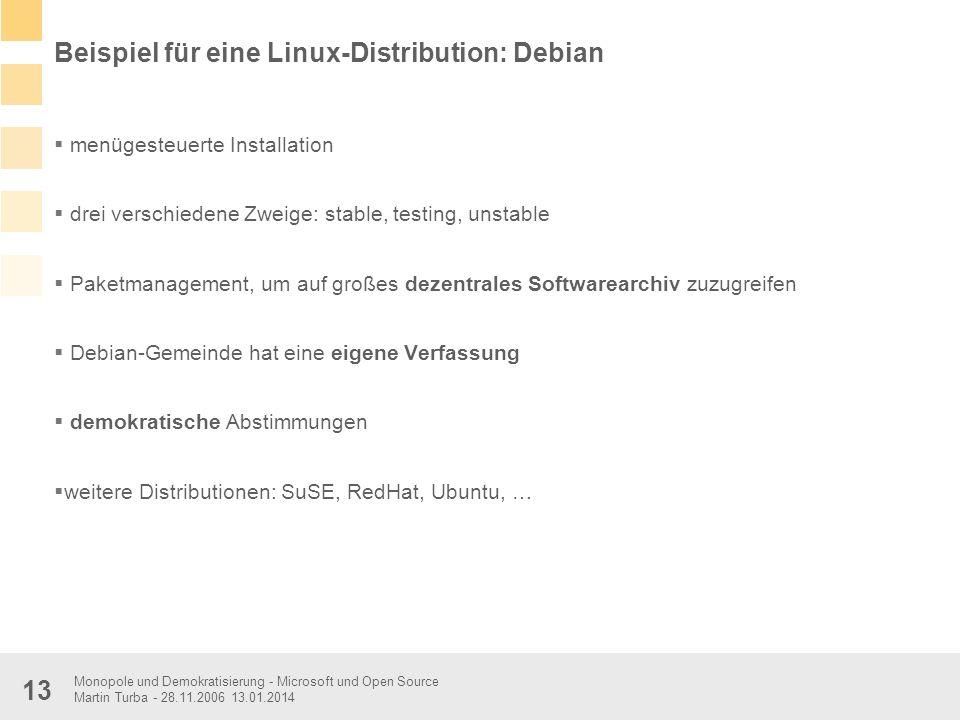 Beispiel für eine Linux-Distribution: Debian
