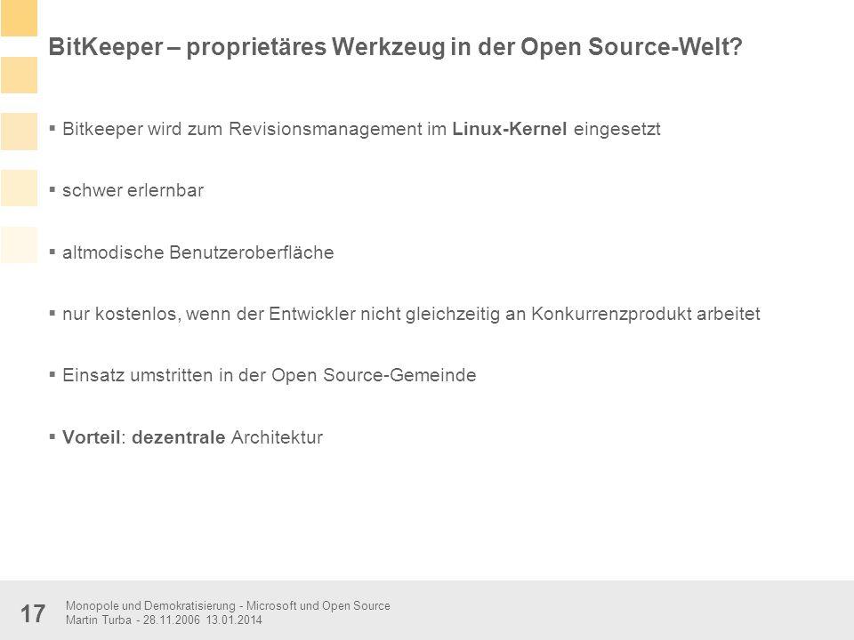 BitKeeper – proprietäres Werkzeug in der Open Source-Welt
