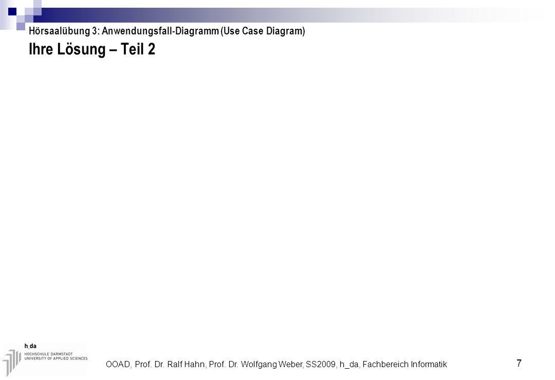 Hörsaalübung 3: Anwendungsfall-Diagramm (Use Case Diagram)