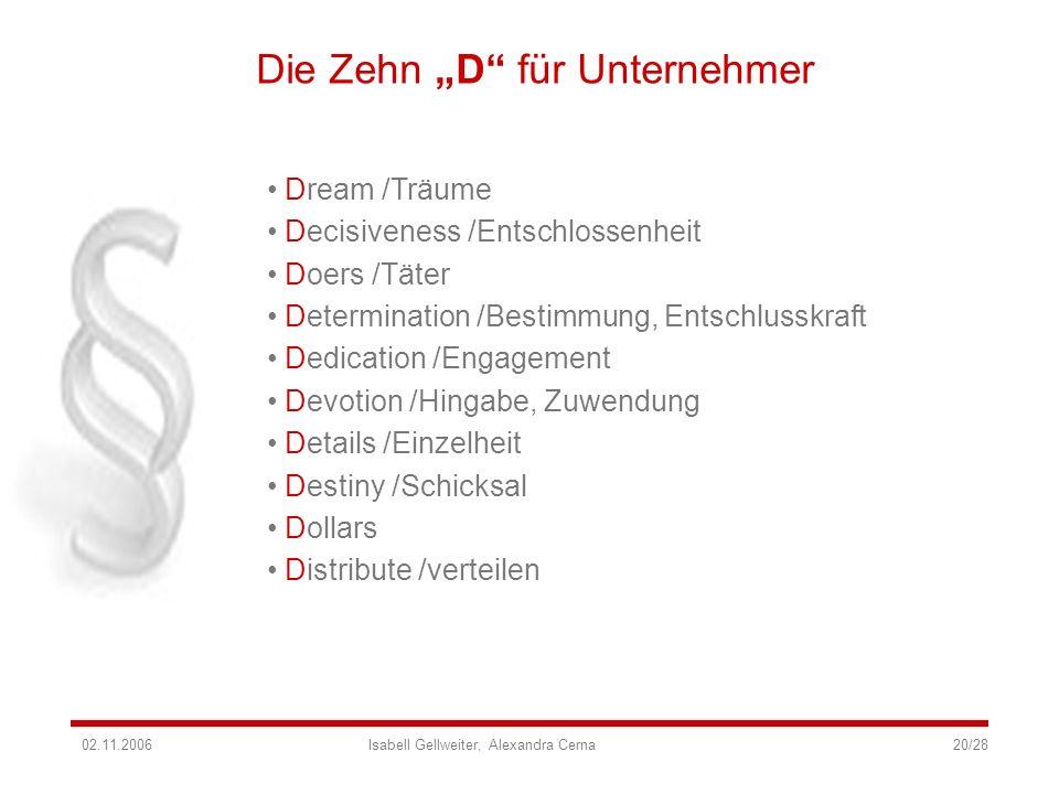 """Die Zehn """"D für Unternehmer"""