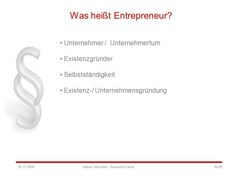 Was heißt Entrepreneur
