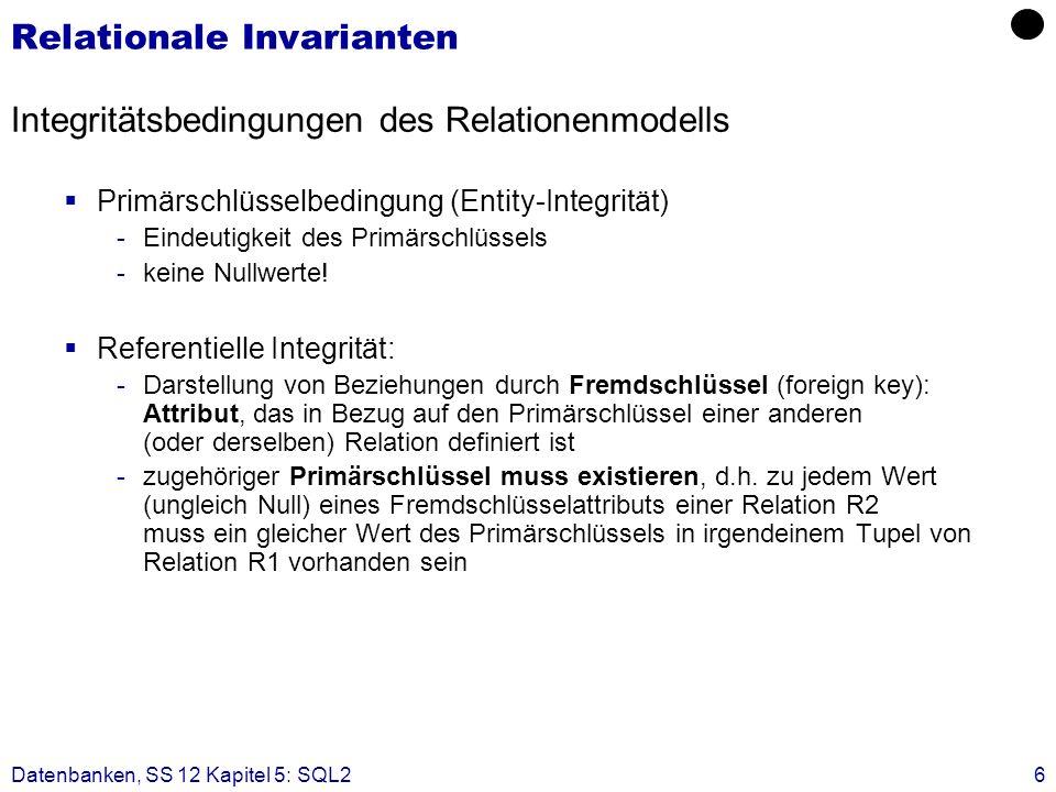 Relationale Invarianten