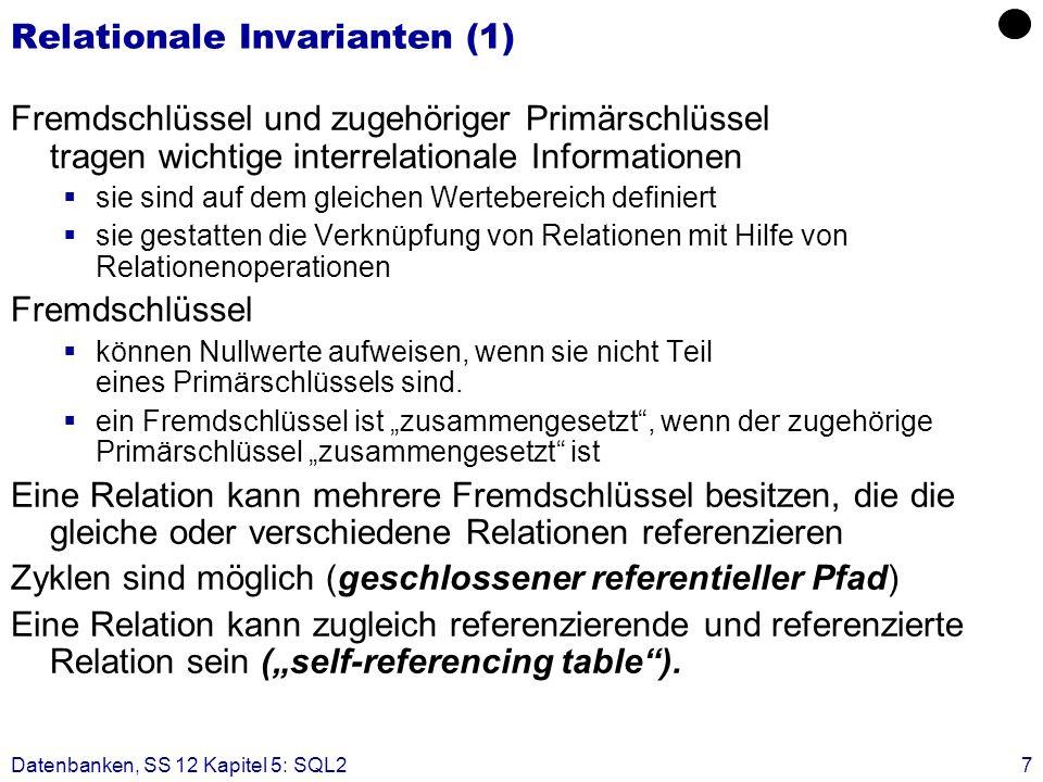 Relationale Invarianten (1)