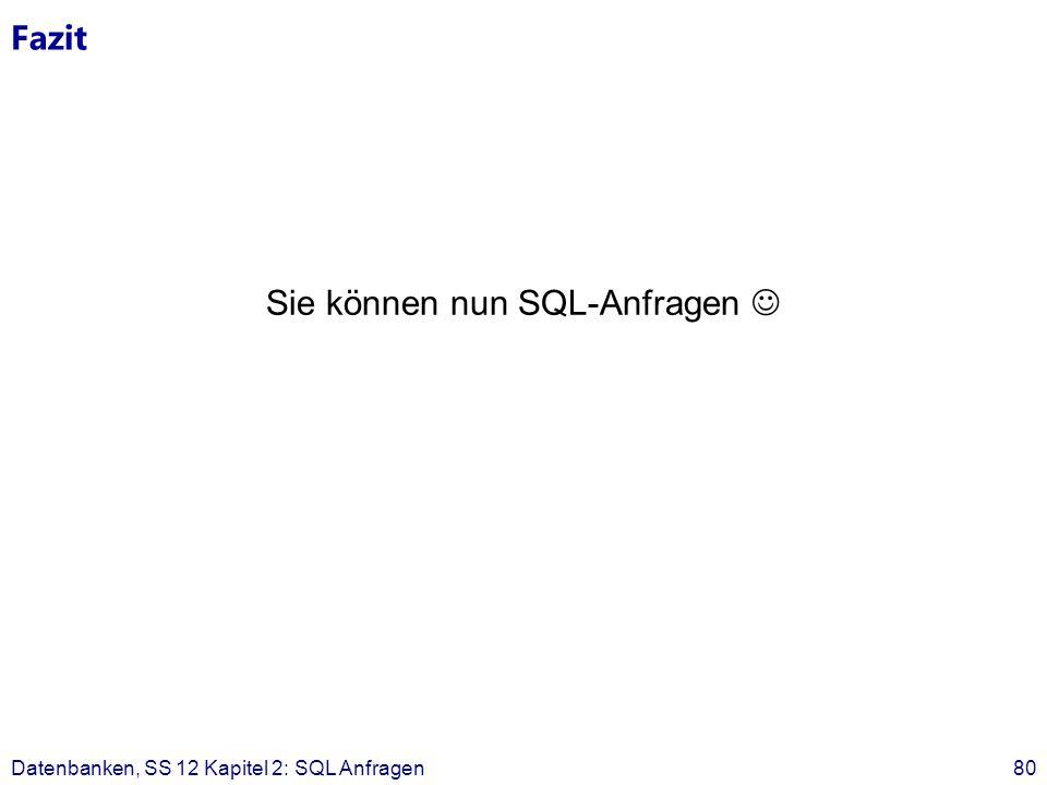Sie können nun SQL-Anfragen 