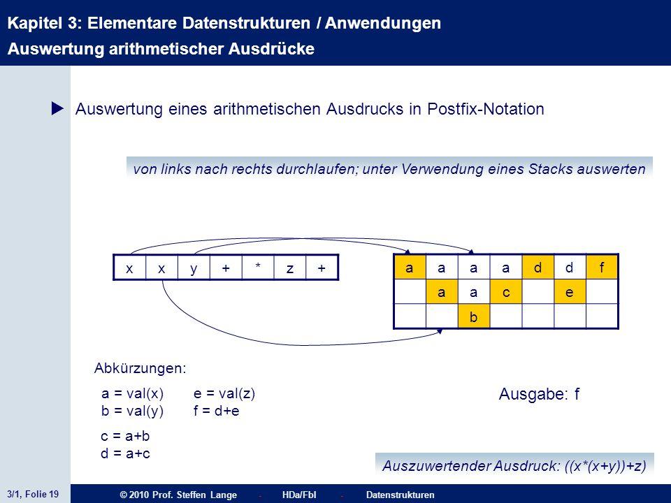 Auswertung arithmetischer Ausdrücke