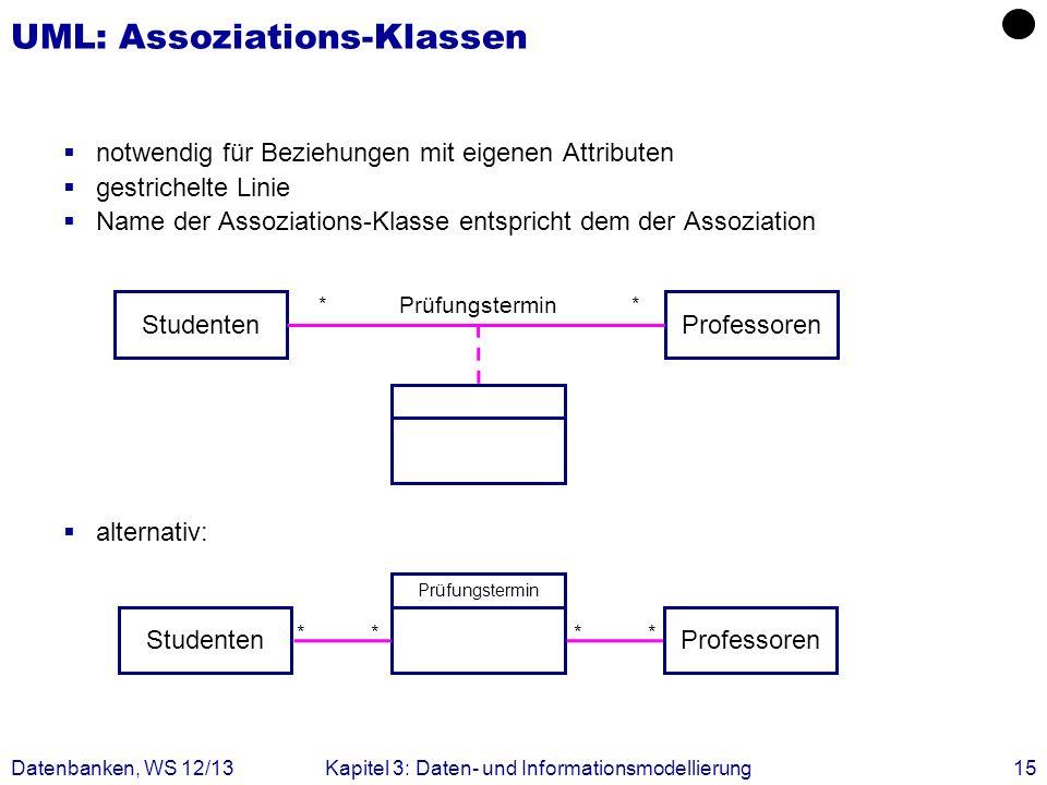 UML: Assoziations-Klassen