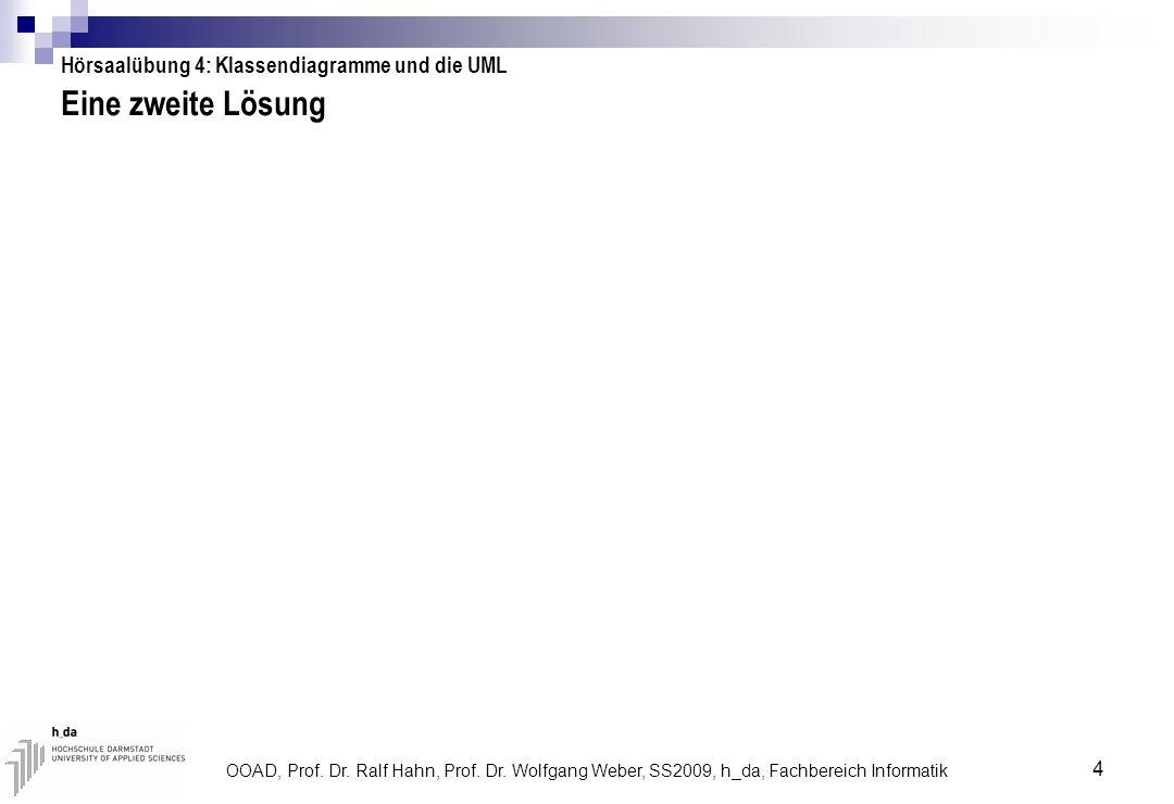 Eine zweite Lösung Hörsaalübung 4: Klassendiagramme und die UML