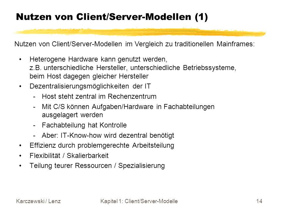 Nutzen von Client/Server-Modellen (1)