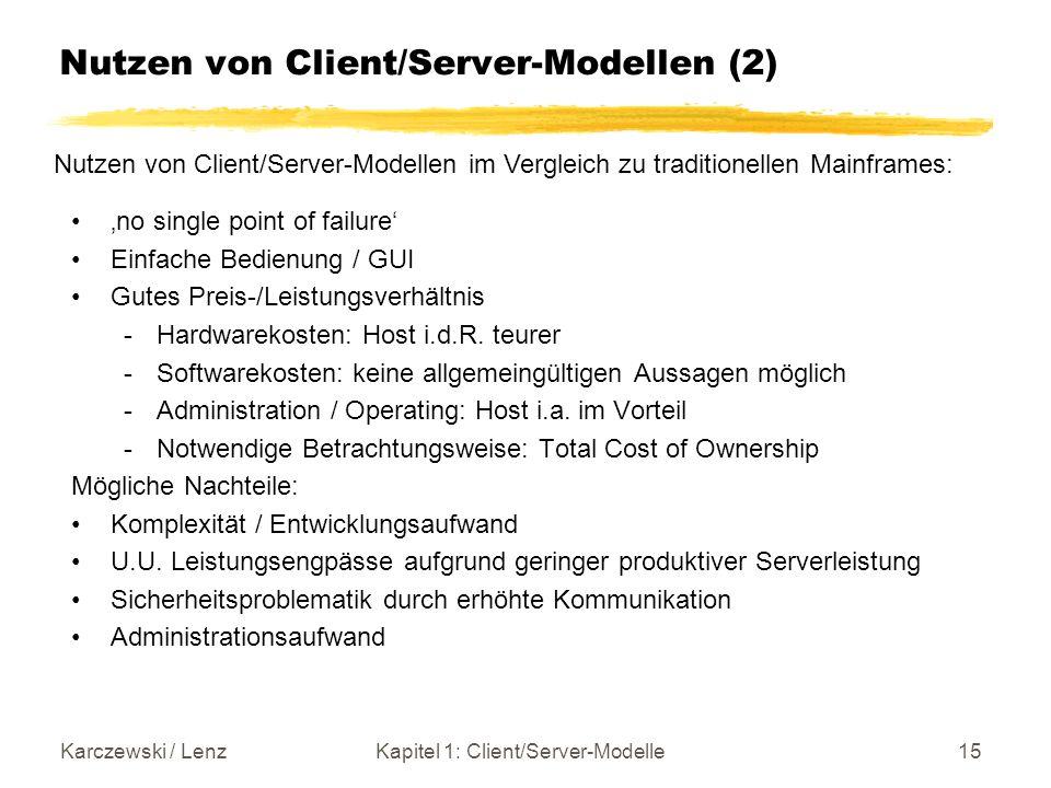 Nutzen von Client/Server-Modellen (2)