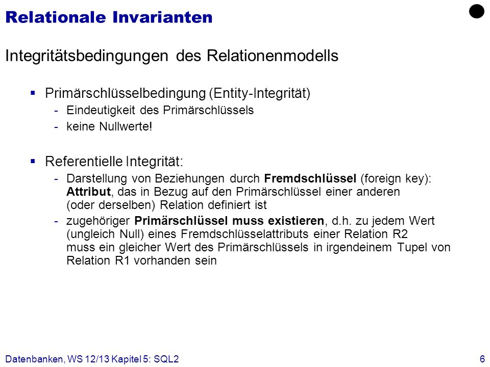 Relationale Invarianten