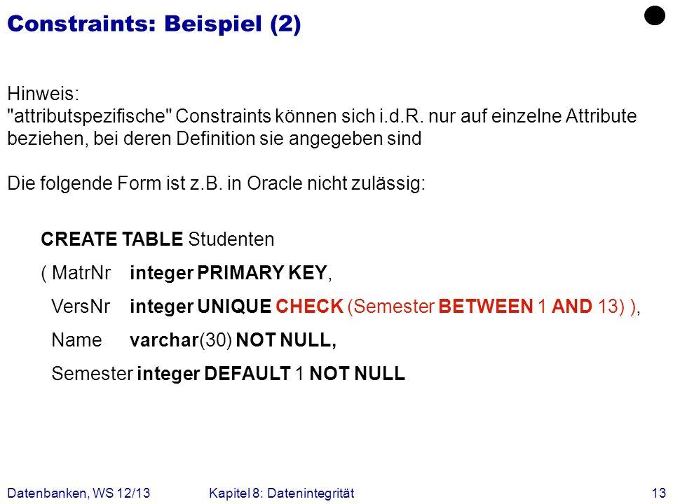 Constraints: Beispiel (2)