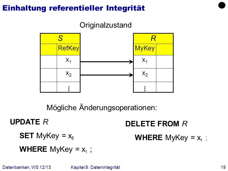 Einhaltung referentieller Integrität