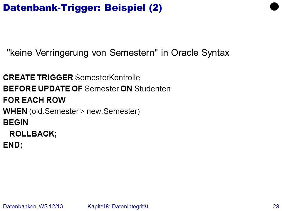 Datenbank-Trigger: Beispiel (2)