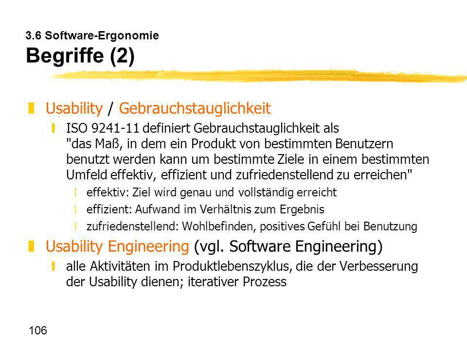 3.6 Software-Ergonomie Begriffe (2)