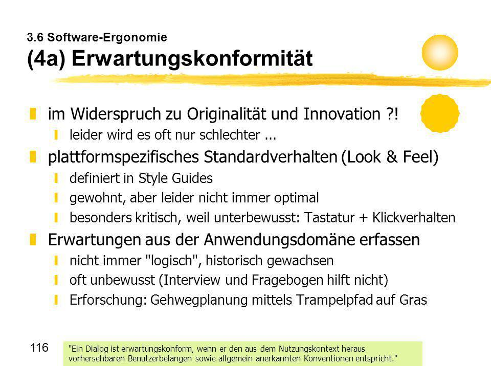 3.6 Software-Ergonomie (4a) Erwartungskonformität