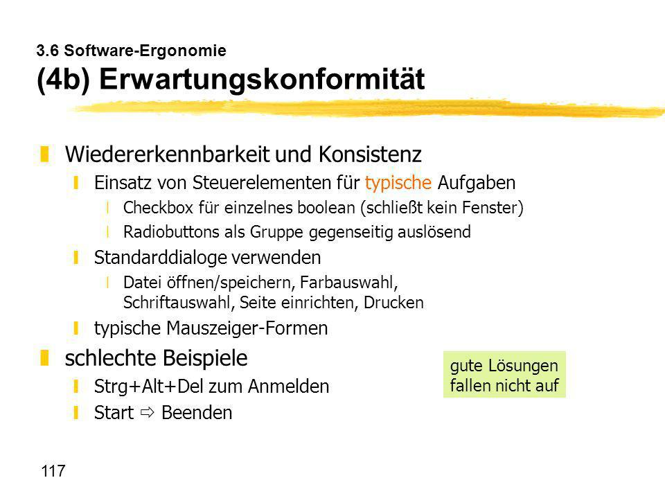 3.6 Software-Ergonomie (4b) Erwartungskonformität