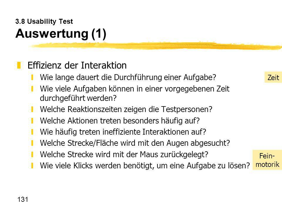 3.8 Usability Test Auswertung (1)