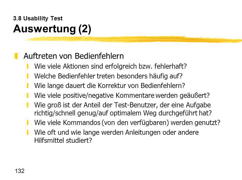 3.8 Usability Test Auswertung (2)