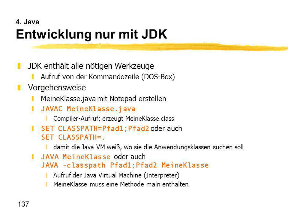 4. Java Entwicklung nur mit JDK