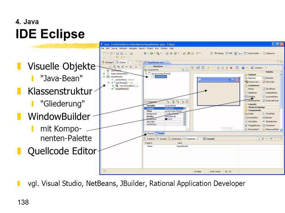 Visuelle Objekte Klassenstruktur WindowBuilder Quellcode Editor