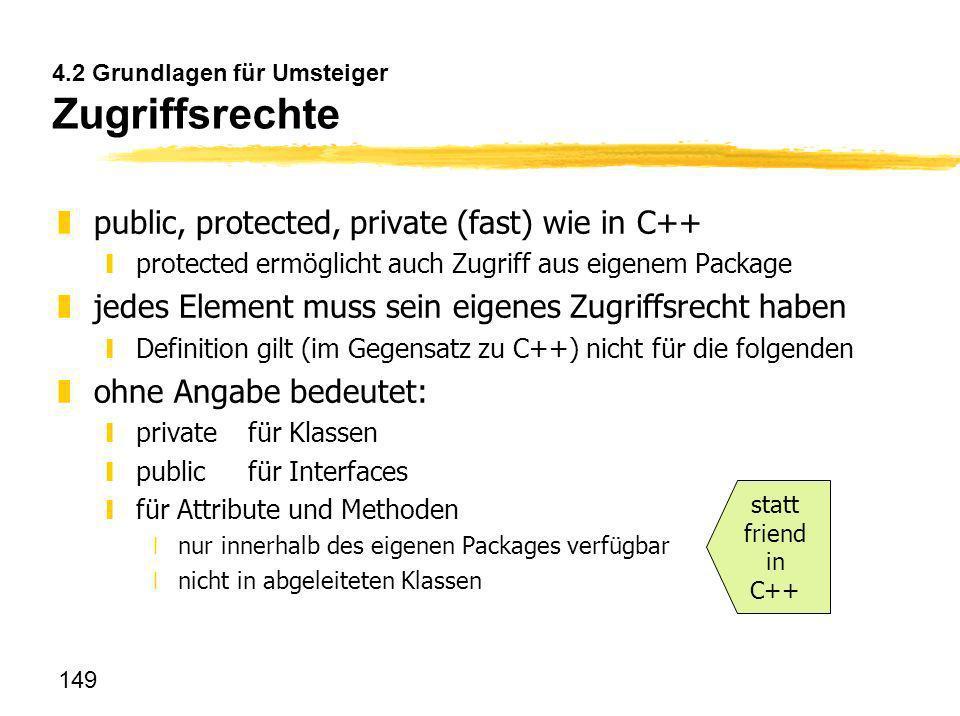 4.2 Grundlagen für Umsteiger Zugriffsrechte