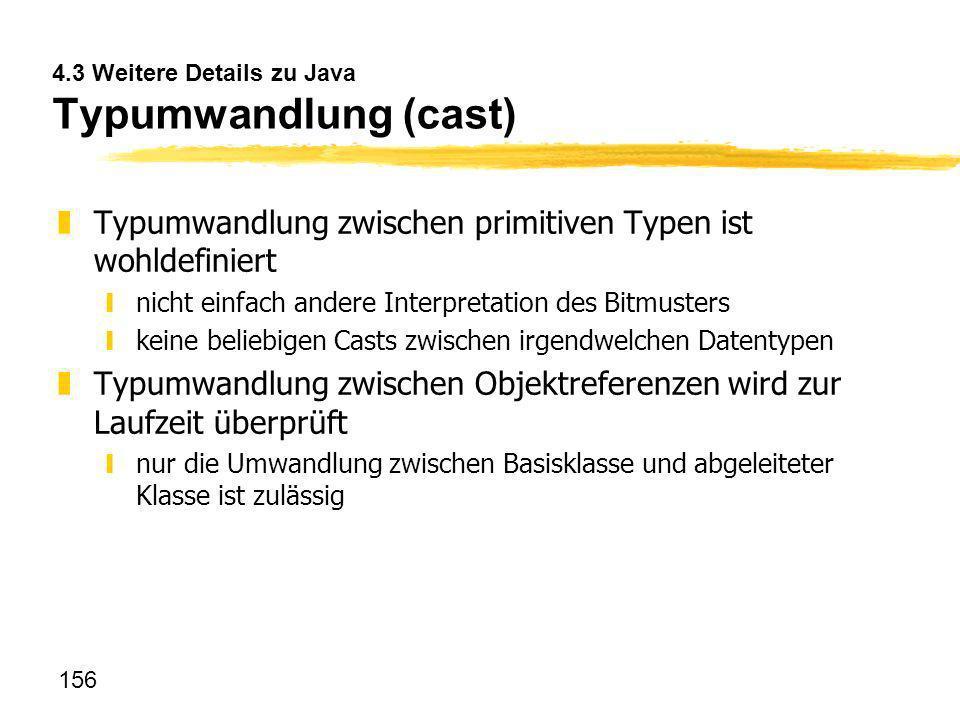 4.3 Weitere Details zu Java Typumwandlung (cast)