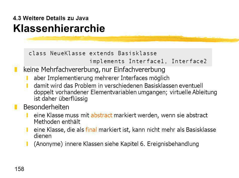4.3 Weitere Details zu Java Klassenhierarchie