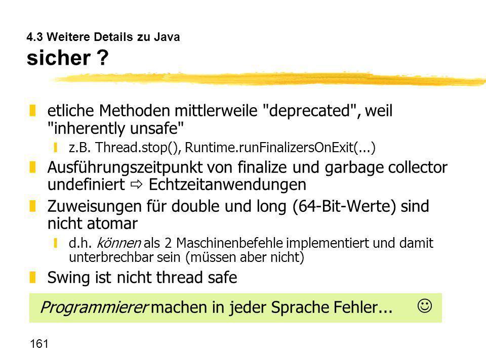 4.3 Weitere Details zu Java sicher