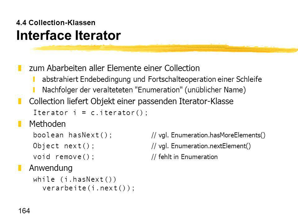 4.4 Collection-Klassen Interface Iterator
