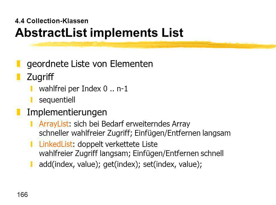 4.4 Collection-Klassen AbstractList implements List
