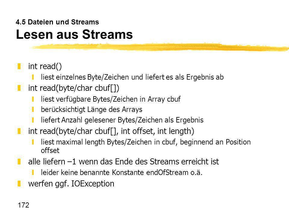 4.5 Dateien und Streams Lesen aus Streams