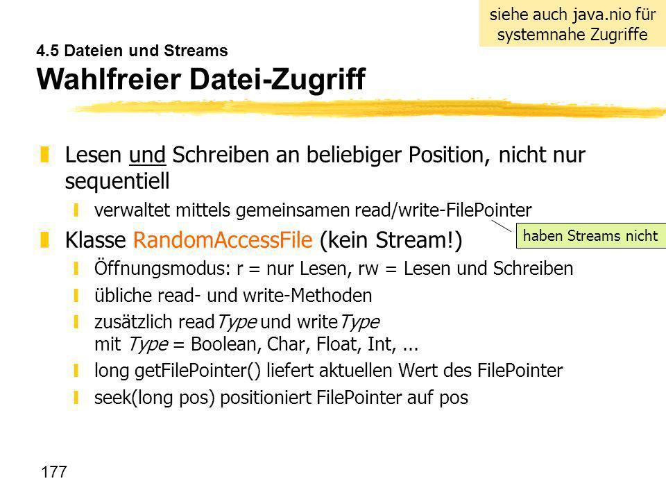 4.5 Dateien und Streams Wahlfreier Datei-Zugriff