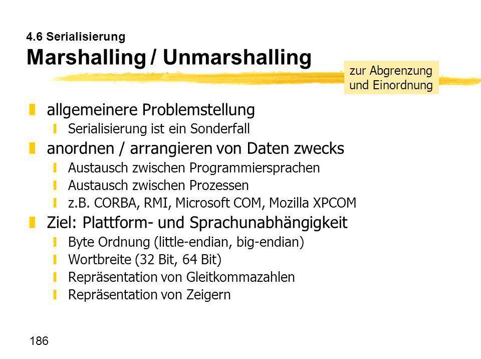 4.6 Serialisierung Marshalling / Unmarshalling