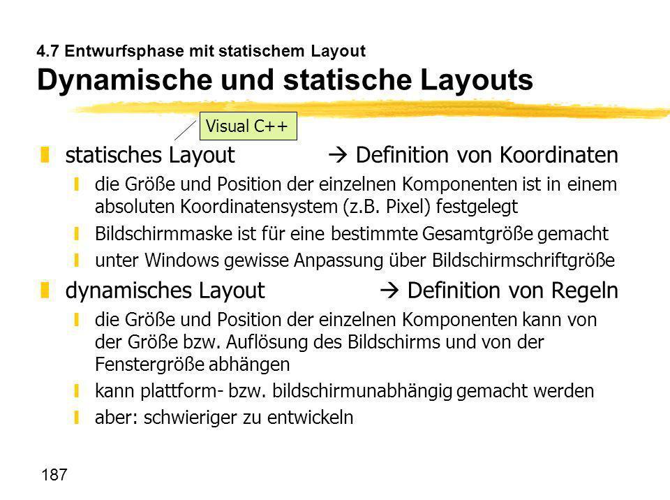statisches Layout  Definition von Koordinaten