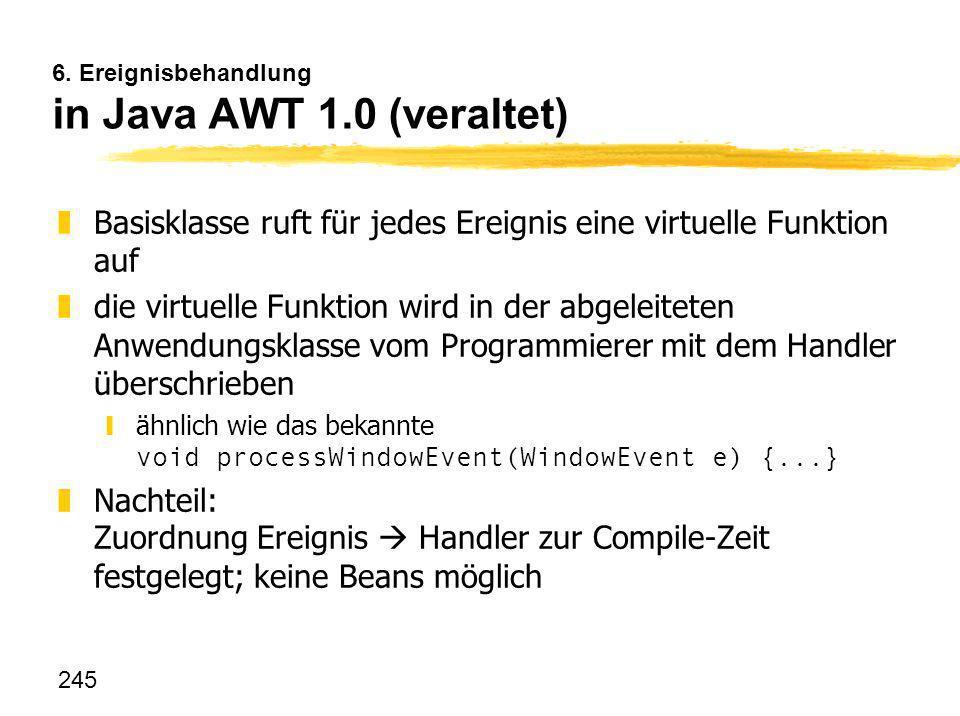 6. Ereignisbehandlung in Java AWT 1.0 (veraltet)
